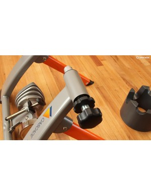 Both sides of the quick-release clamp are easily adjustable, and lock in place with the inner knob