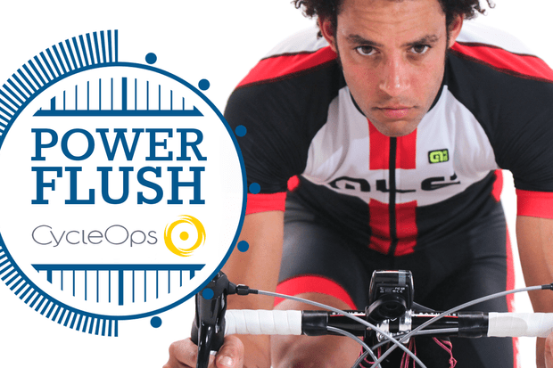 Turbo trainer workout - power flush efforts