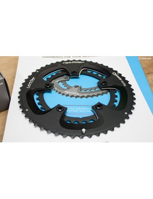 The Praxis Works chainrings come in 52x36 or 50x34 options