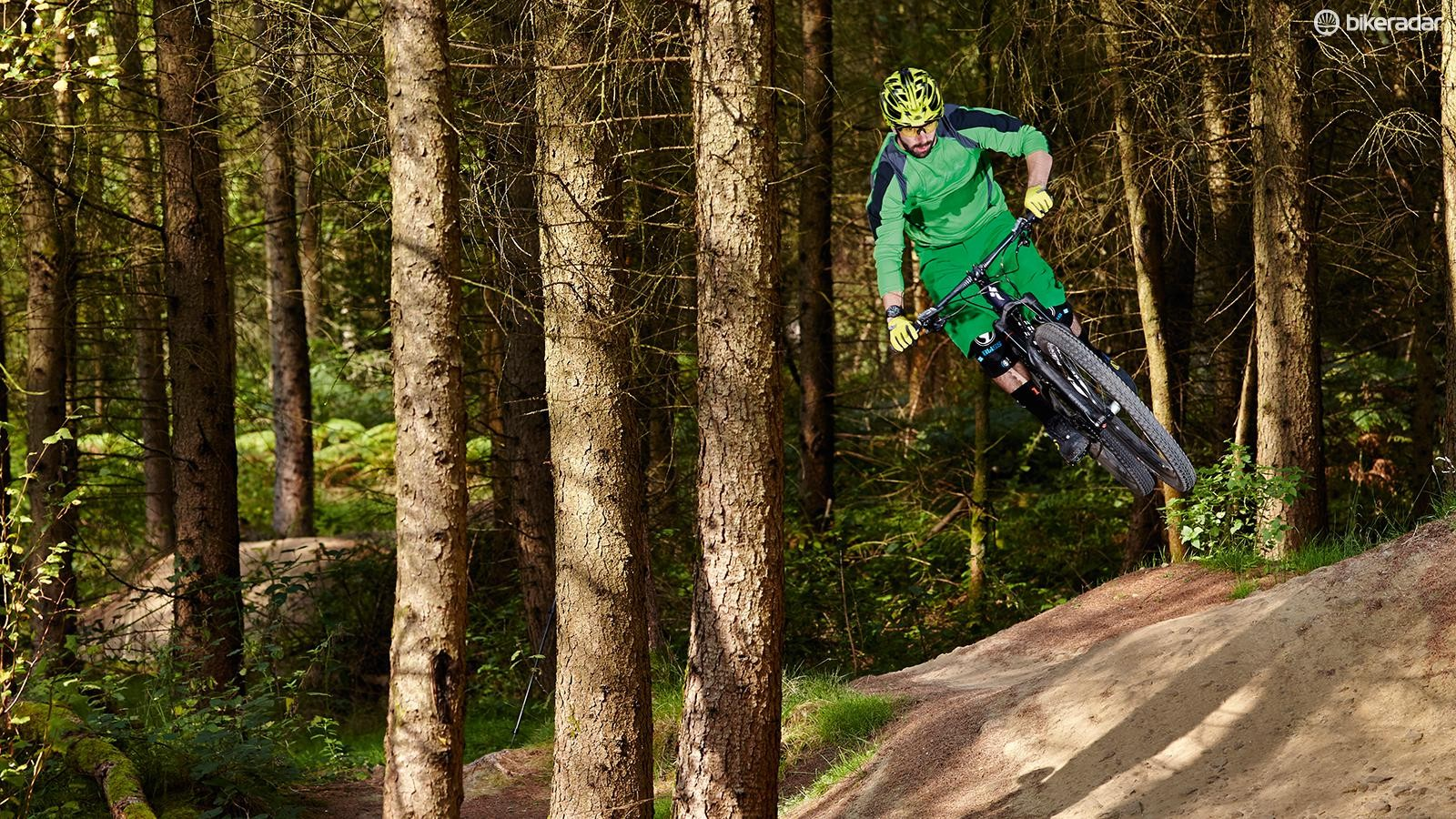 The Stumpy's well-balanced chassis delivers a satisfying balance of stability and fun