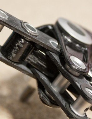 The brake cable is held in place with a simple hex bolt