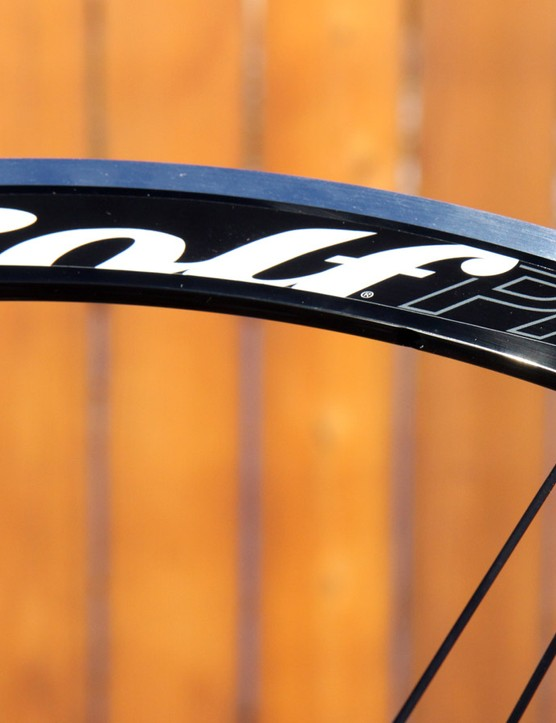 The 33mm-deep rims feature an old-school V-shaped cross-section, but the paired spoke design is decidedly unconventional. According to Rolf Prima, the configuration allows for higher spoke tensions without the rim warping that might othewise occur with a conventional staggered lacing pattern