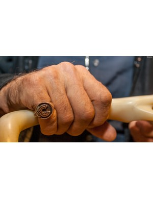 Cool-as Cinelli ring, as worn by Cinelli/Columbus head honcho Antonio Columbo