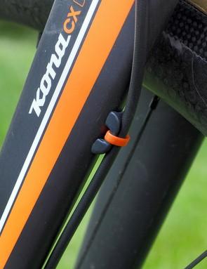 Orange zip-ties complement the paint scheme nicely