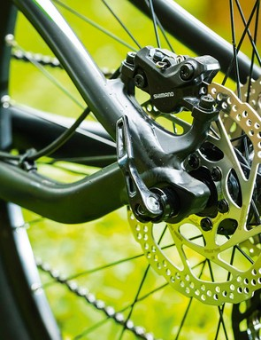 Shimano Deore brakes offer respectable stopping power
