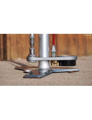 The 'surfboard' is a necessary design element since the high-precision gauge can't be surface mounted in the usual way