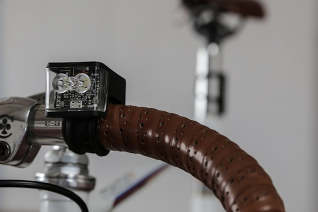 The Augur Wolf Collective Safety Cycling Lights are compact lights that communicate with eachother