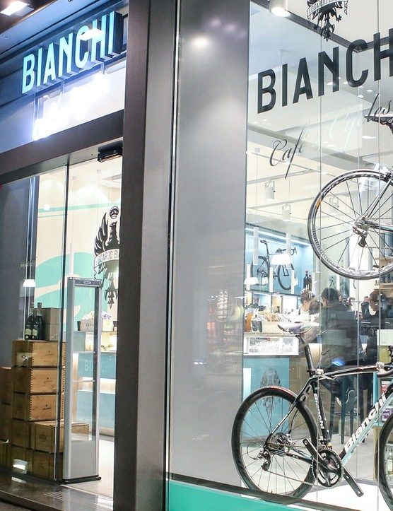 The new Bianchi Café & Cycles in Milan is a gorgeous concept store