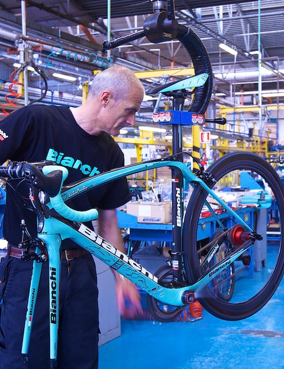 Guests will have the chance to tour the Bianchi factory