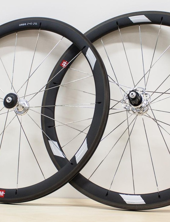 The 3T Orbis C40 LTD wheels are claimed to be more aero and lighter than their Enve and Zipp equivalents