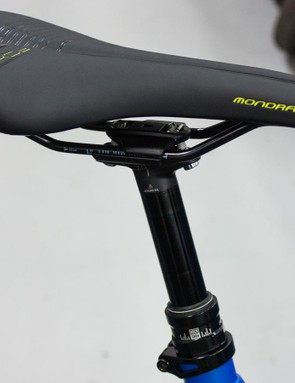 The own brand saddle fixed to a stealth routed RockShox Reverb dropper post