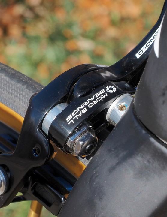 Ball bearing pivots do keep the brakes feeling very smooth, though