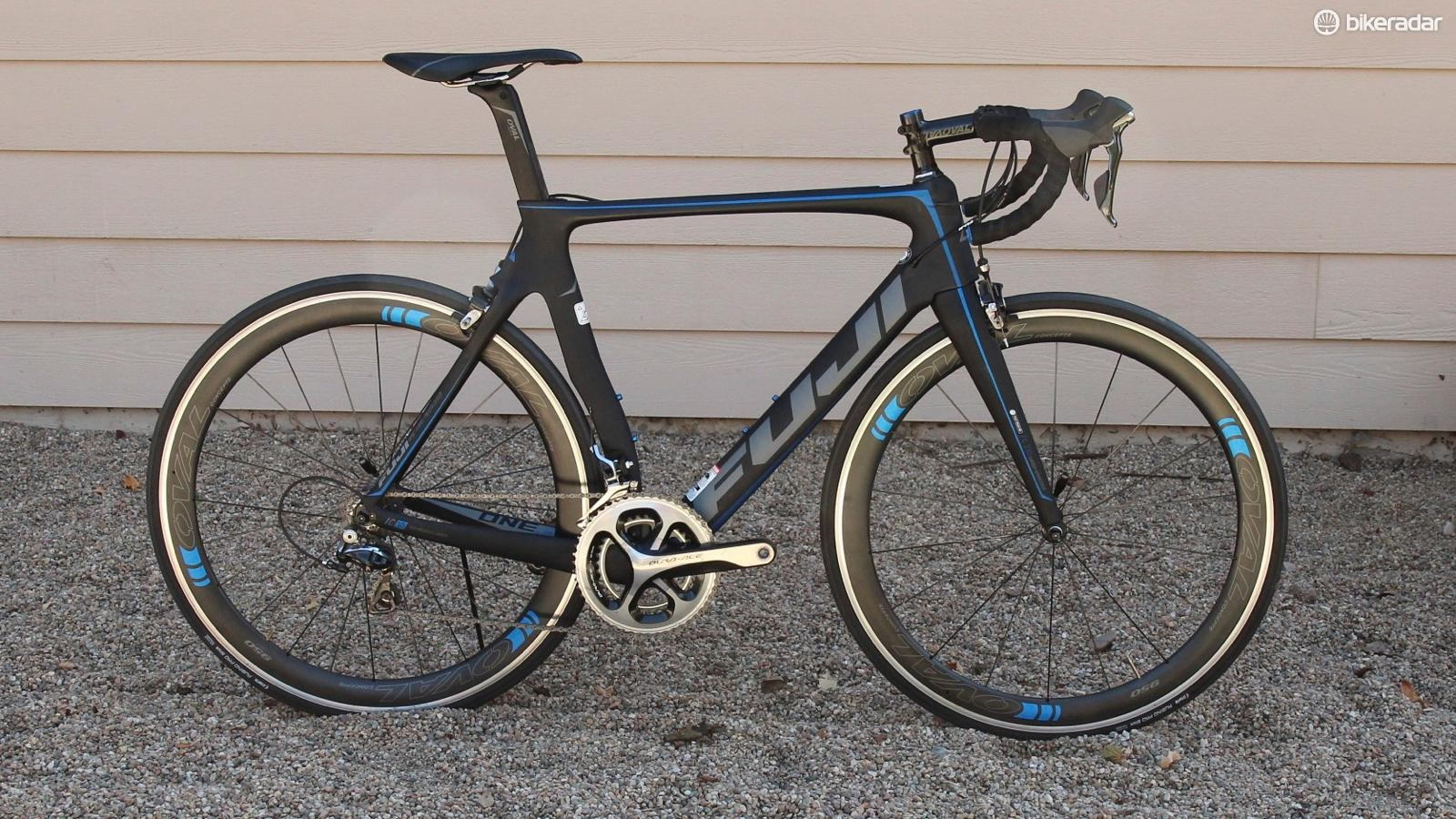 The Fuji Transonic 1.3 is one of eight builds. It comes with full Shimano Dura-Ace, down to the cassette and chain