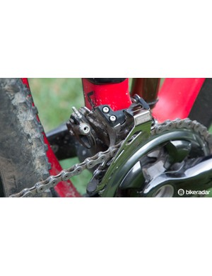 Shifting was working perfectly until the E-type mounting bolts let the derailleur slip from its position