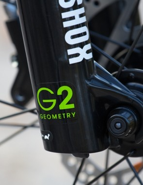G2 Geometry - offsetting the wheel further foward to improve ride handling – is a feature that orginally came from the house of Trek