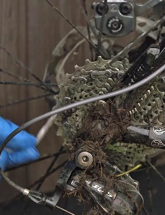 Clean the cassette using floss or a narrow brush