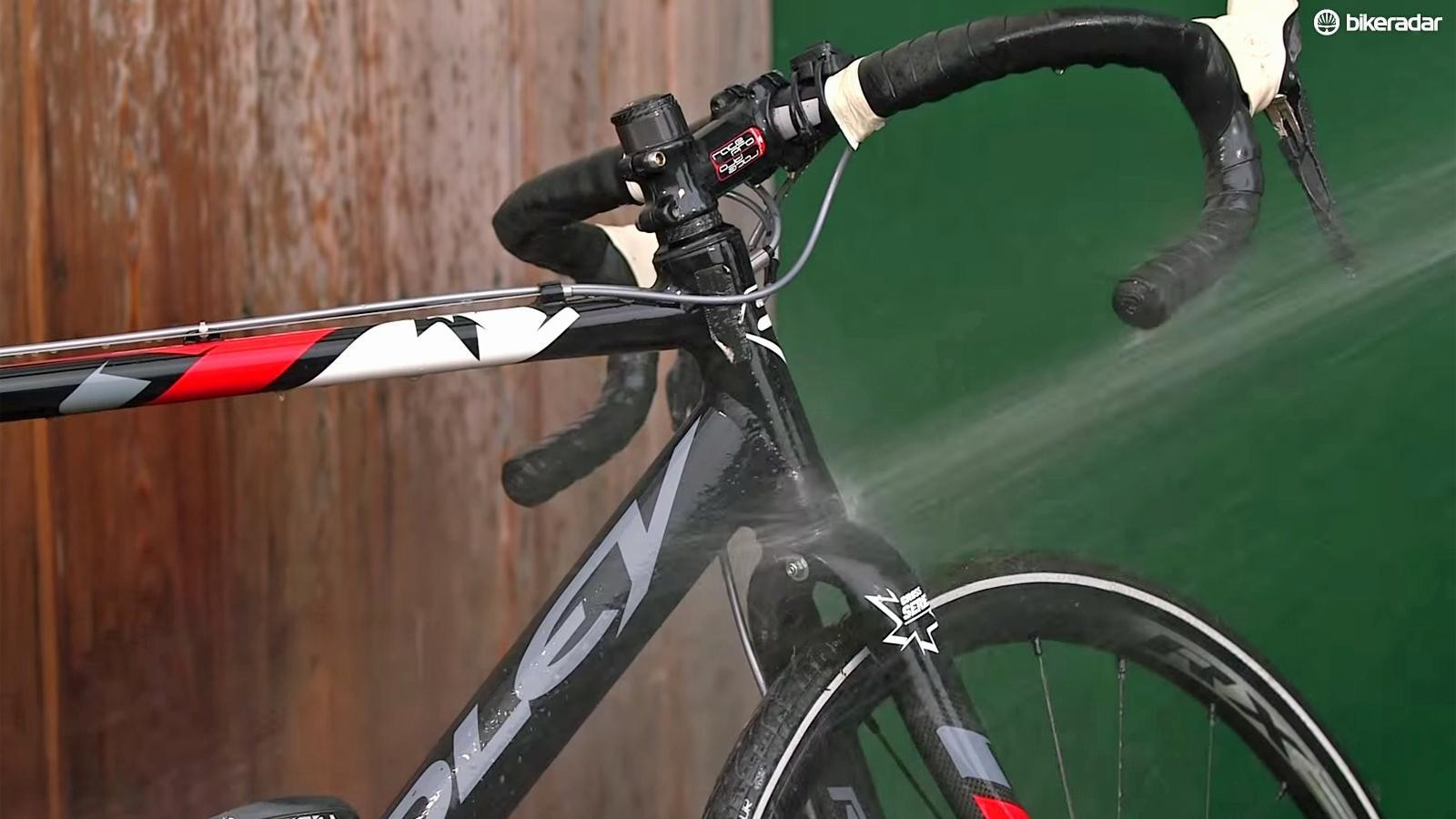 Collect water to clean your bike
