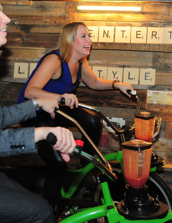 The blender bikes make  good use of energy that's all too often wasted on exercise bikes