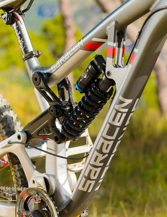 You don't get Manon Carpenter's race prepped RAD shock, but the standard DHX RC4 has been the benchmark DH damper for years