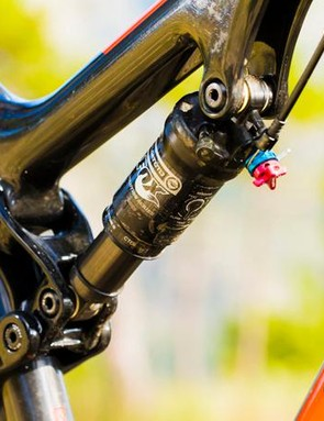 The Fox suspension is unspectacular but combines perfectly with the APB pivot for a sorted ride