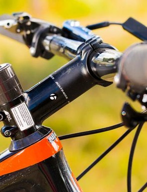 The Superfly's reach is sufficient to get by just fine a with wider bar/shorter stem setup