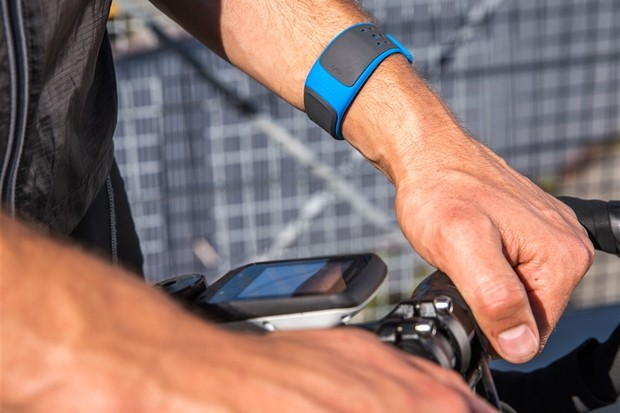 The Mio VELO sends heart-rate data, captured at the wrist, to cycling computers or smartphones