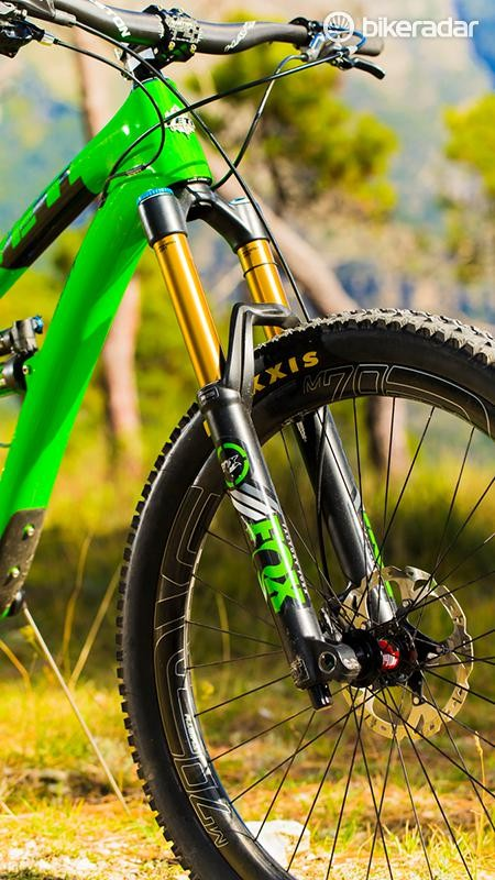 Fox's revamped 36 fork is a massive improvement over the 34 in terms of stiffness and accuracy, making it well worth the extra weight and five-bolt axle fit and release fiddling