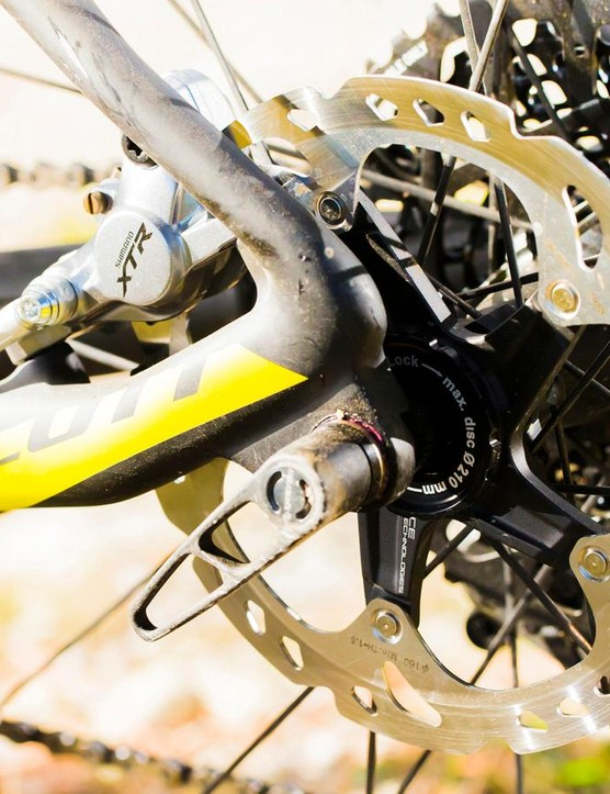 Stopping comes courtesy of Shimano's latest XTR