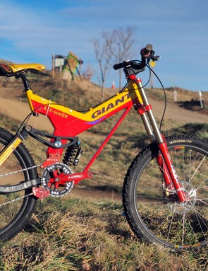 Myles Rockwell won the 2000 UCI downhill world championship in Sierra Nevada, Spain aboard this Giant ATX oneDH