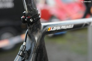 Ridley's double seat clamp ensures that the seatpost doesn't go anywhere, no matter how hard the remount