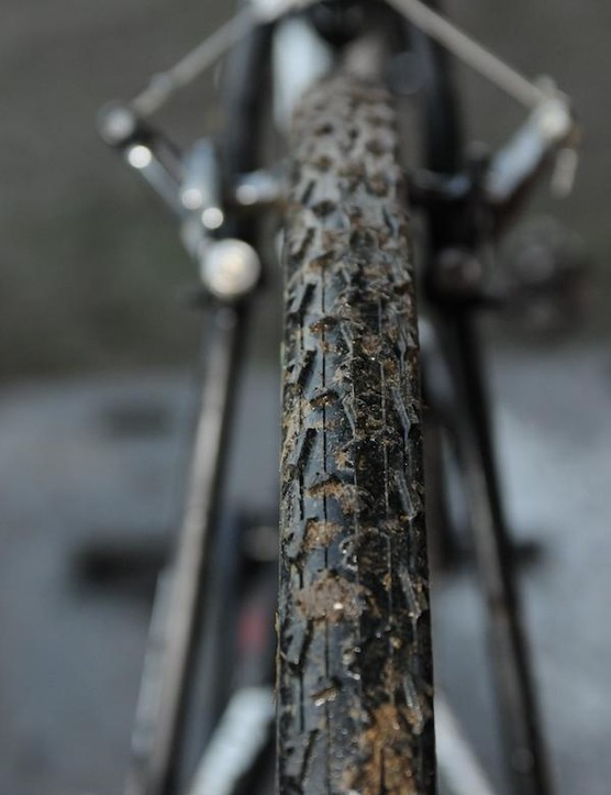 With the Milton Keynes course producing possibly the toughest course of the season, mud tyres were essential, and although Pauwels finished on Dugast Rhinos, one of the race bikes he used was fitted with Challenge Limus