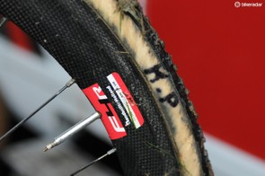 Just so there's no problem distinguishing Pauwels' wheels, they're initialled, but we can't help thinking that valve stem extension is longer than it needs to be
