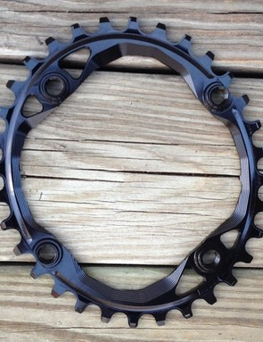 Absolute Black's ovalized narrow/wide chainring seeks to make pedaling more efficient