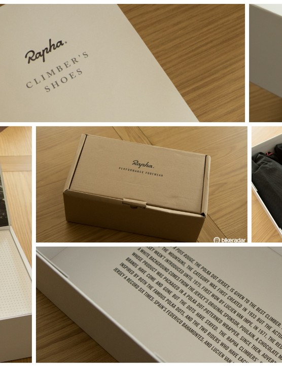The incredibly detailed and elegant packaging reminds that these are not entirely Giro shoes