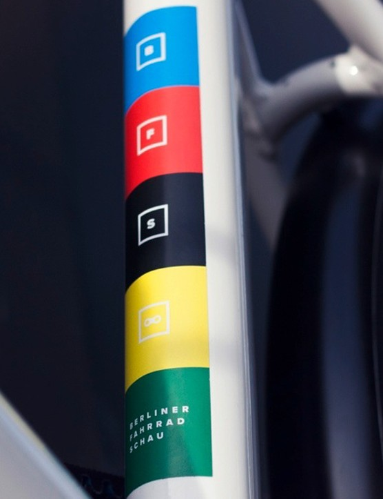 The BFS logo is the only dash of colour on the bike