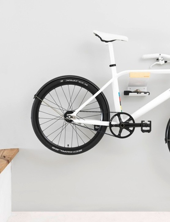 The bike is design for a thin profile, making it easy to store
