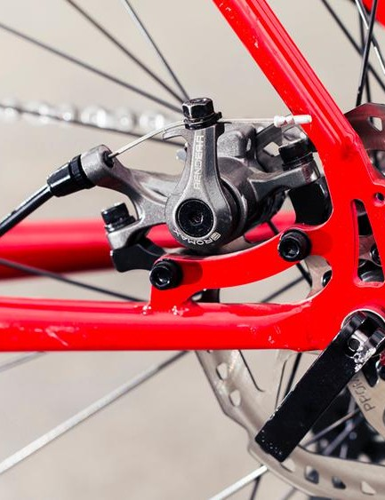 Promax Render R disc brakes are easily adjusted and take Avid BB pads