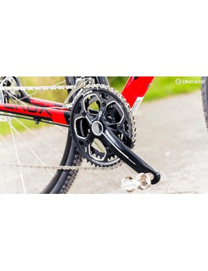 FSA cranks benefit from a BB30 bottom bracket and oversized frame shell to bolster stiffness