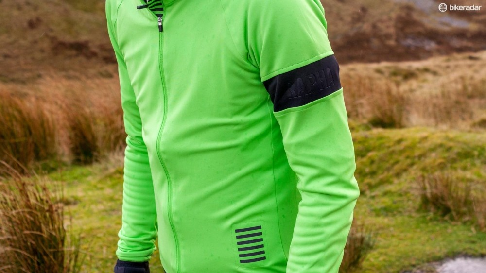 High vis colours meets Rapha's usual simple style with the Rapha Long Sleeve Pro Team jersey