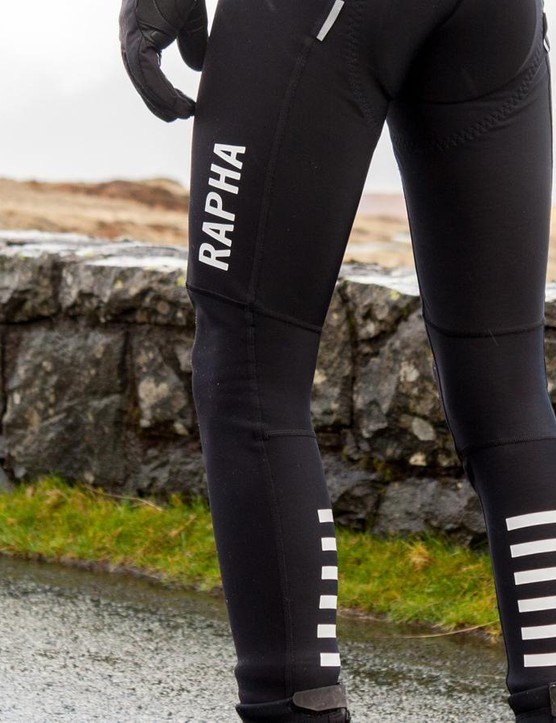 Rapha's Pro Team Winter Tights keep you safe from wind chill and road spray