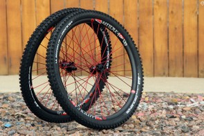 Industry Nine's 27.5 Enduro wheelset is reasonably light at 1,707g – but it's fantastically stiff and solid. Optional color anodized spokes add plenty of visual flair, too