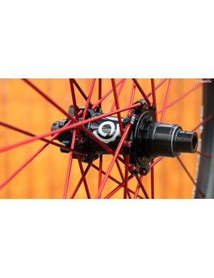 Anchoring the rear wheel is Industry Nine's own Torch-series hub, complete with a blazingly fast three-degree engagment speed