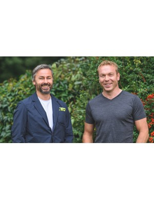 Vulpine co-founder Nick Hussey with Sir Chris Hoy