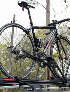 Yakima's HighRoller rack may look strange, but it works admirably well