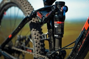 The rear shock features Trek's RE:aktiv damper, which was designed in conjunction with Penske Racing Shocks