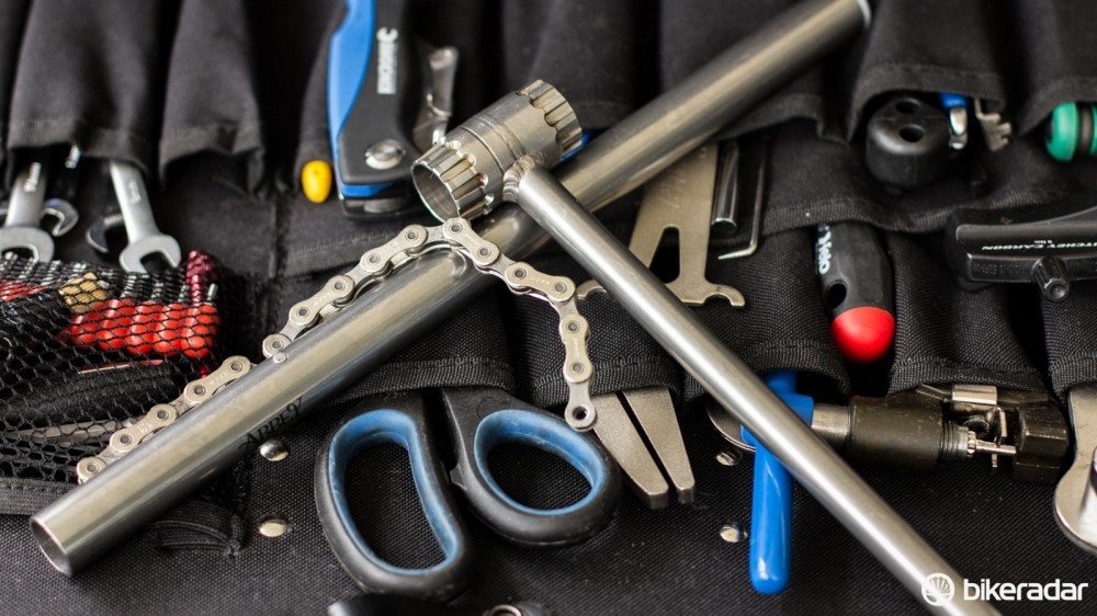 The Crombie SL tool slides inside of the Whip-it chainwhip for compact and lightweight storage