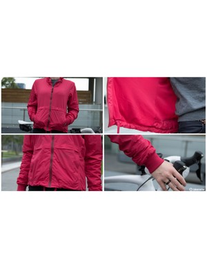 The Women's Rain Bomber (£220 / US$330 / AU$340) packs more warmth than you'd expect for a light weight cycling rain jacket