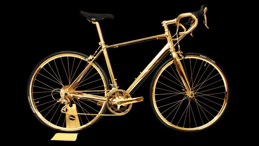 This 24 karat gold Giant Defy 5 costs £250,000
