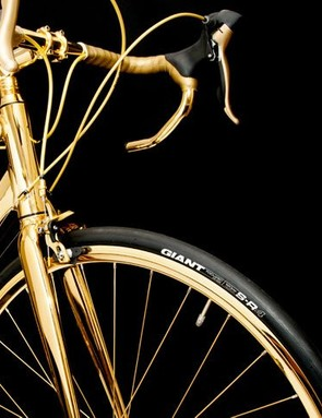 The Shimano Claris gearing might work well, but wouldn't you rather have golden Dura-Ace?