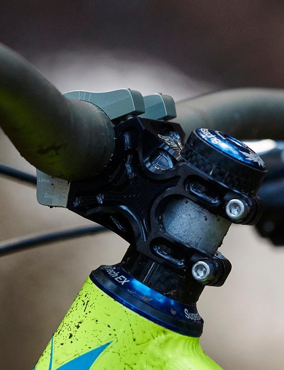 The Apex stem has a six-degree rise (or drop)